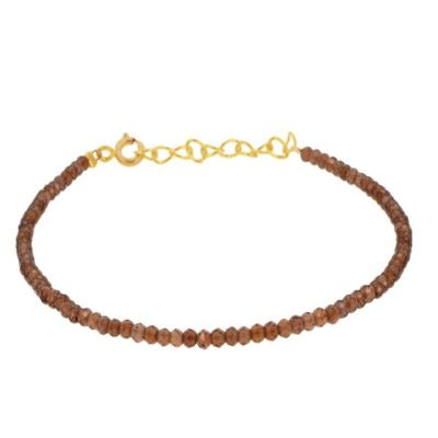 Pulsera Hawai Granate Gold
