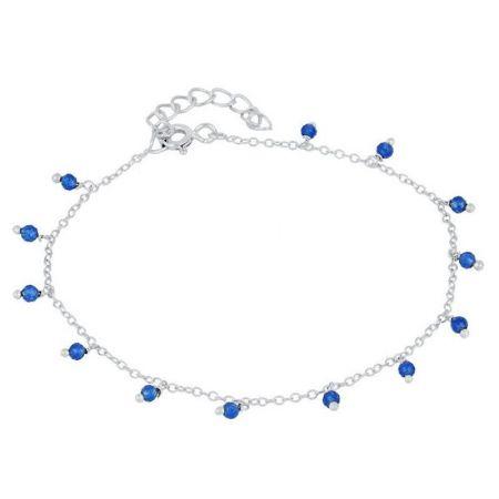Pulsera Jade Azul Plata