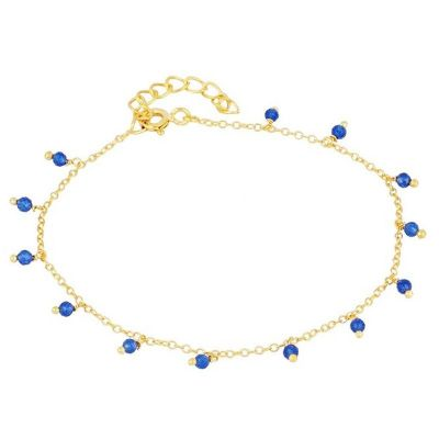 Pulsera Miley Jade Azul Gold
