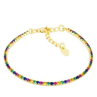 Pulsera Riviere Rainbow Gold