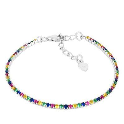 Pulsera Riviere Rainbow Plata