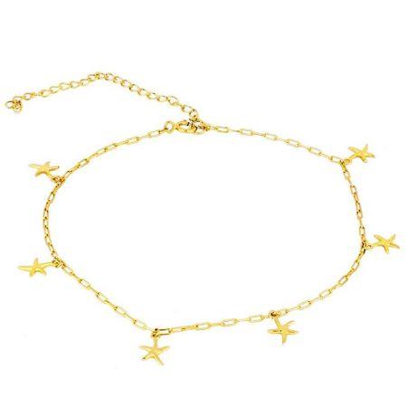 Tobillera Estrellas de Mar en Plata