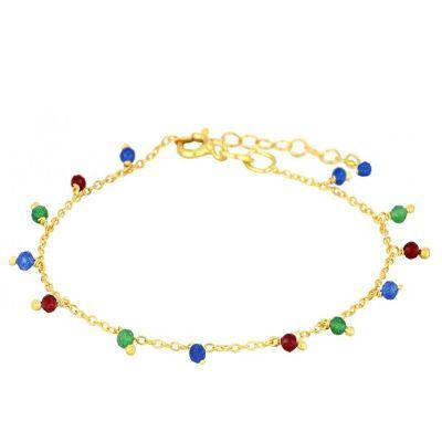 Tobillera Multicolor Gold