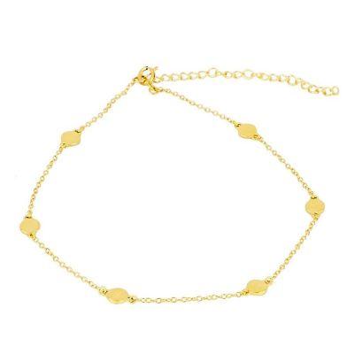Tobillera Chapitas Gold