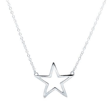 Collar de Estrella en Plata de Ley