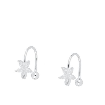 Ear Cuff Flor de Plata de Ley
