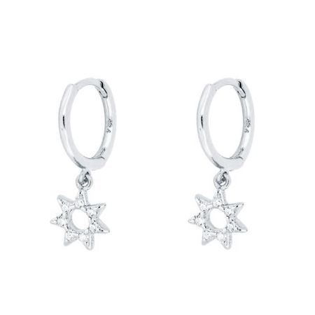 Aros Estrellas Plata