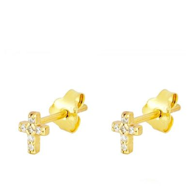 Pendientes Mini Cruz Gold