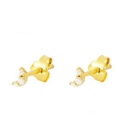 Pendientes Mini Luna Gold