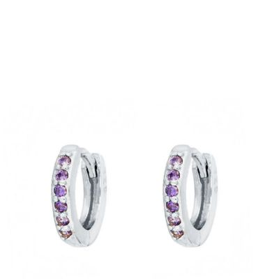 Aros Lucy Lilas Plata