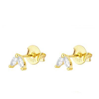 Pendientes Ainhoa Blancos Gold