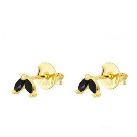 Pendientes Ainhoa Negros Gold