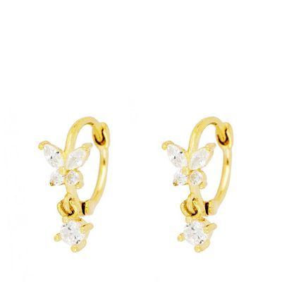 Aros Mariposas Gold