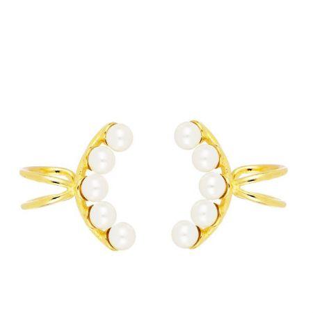Ear Cuff de Perlas en Plata de Ley