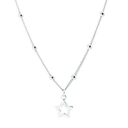 Colgante Bolitas con Estrella en Plata