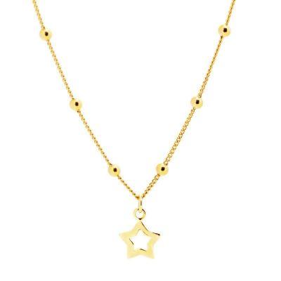 Collar Estrella Bolitas Gold