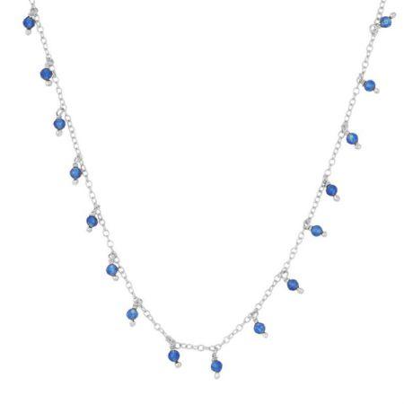 Colgante de Jade Azul en Plata