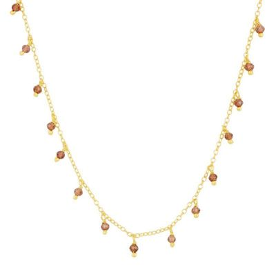 Collar Chiara Granates Gold