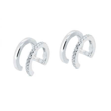 Ear Cuff de Piedras Plata de Ley