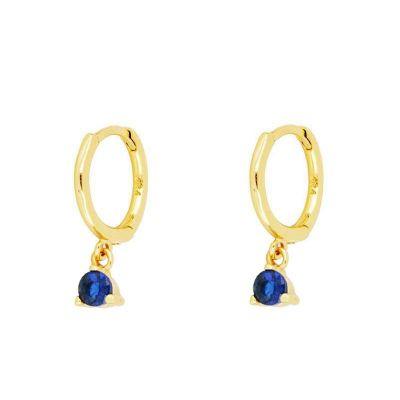 Aros Alana Azules Gold