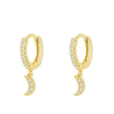 Aros Moon Blancos Gold