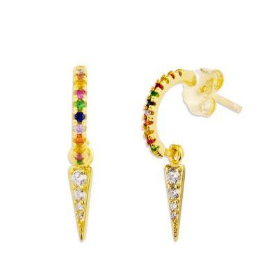 Aros Multicolor Pincho Gold