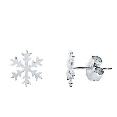 Pendientes Copo de Nieve en Plata