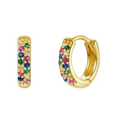 Aros Nabila Multicolor Gold