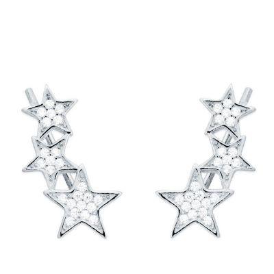 Pendientes Estrellas en Plata
