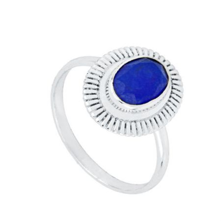 Anillo de Mujer Piedra Azul