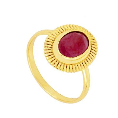 Anillo Minerva Granate Gold