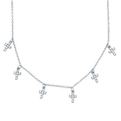 Gargantilla de mujer con colgante de cruz