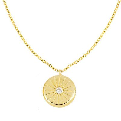 Gargantilla de moda mujer de plata dorado