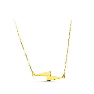 Gargantilla Mujer Rayo Oro Amarillo 18K 40 Cm