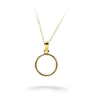 Gargantilla Mujer Circulo 12Mm Oro Amarillo 18K 40 Cm