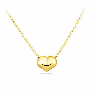 Gargantilla Mujer Corazon 7Mm Oro Amarillo 18K 42 Cm