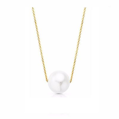 Gargantilla Mujer Perla 6Mm Oro Amarillo 18K 40 Cm