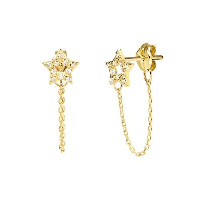 Pendientes Lucy Chain Oro 18K