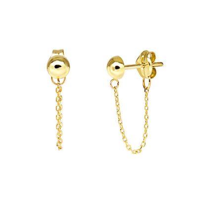 Pendientes Tyna Chain Oro 18K