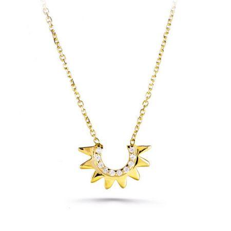 gargantilla de mujer colgante sol oro amarillo 18ktes