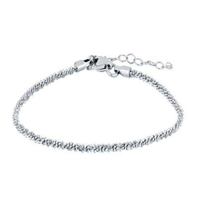 pulsera de mujer cordón plata