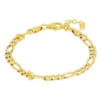 pulsera de oro cadena fígaro