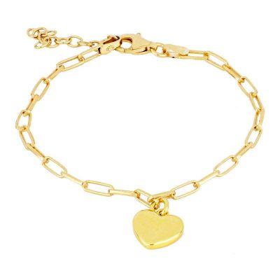pulsera de oro con colgante de corazon