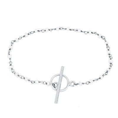 pulsera de plata con perlas