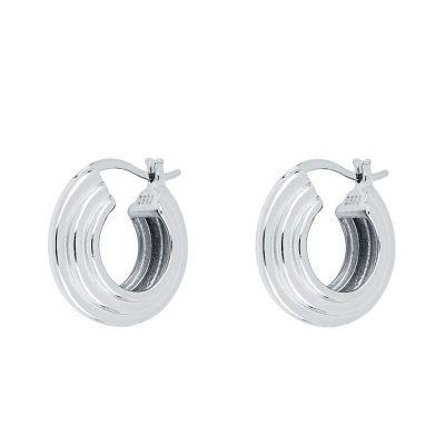 aros de plata anchos para mujer