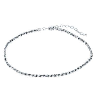 tobillera de plata mujer cordón salomónico