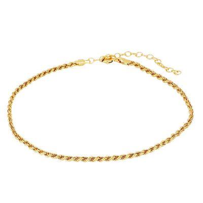 tobillera de oro mujer cordón salomónico