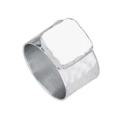 anillo ancho piedra luna