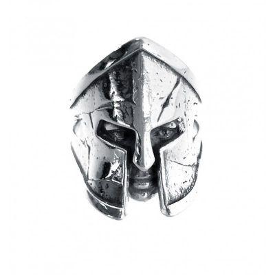 sello de plata caballero casco espartano