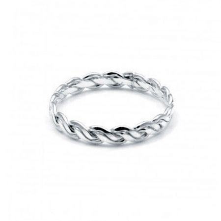 anillo de plata trenzado